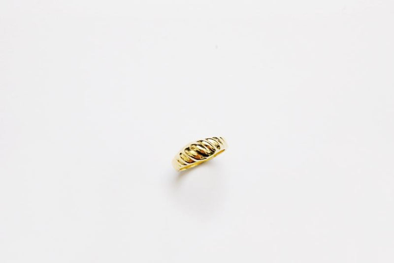 Diagonal Ring S size - Gold
