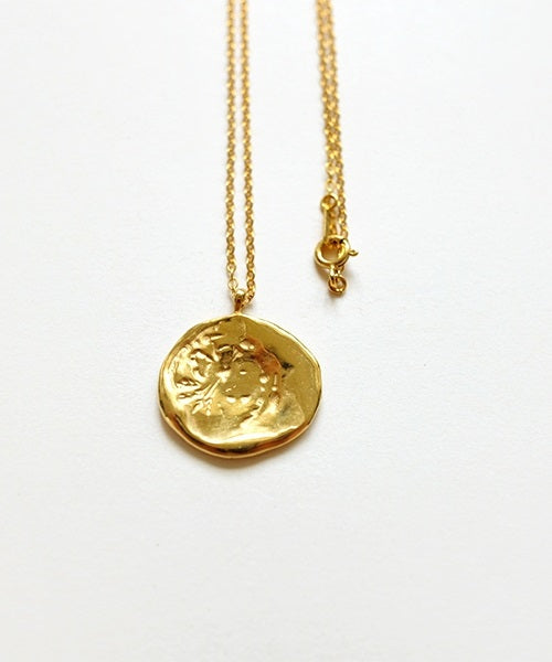 Oat Stamp Necklace (Gold)