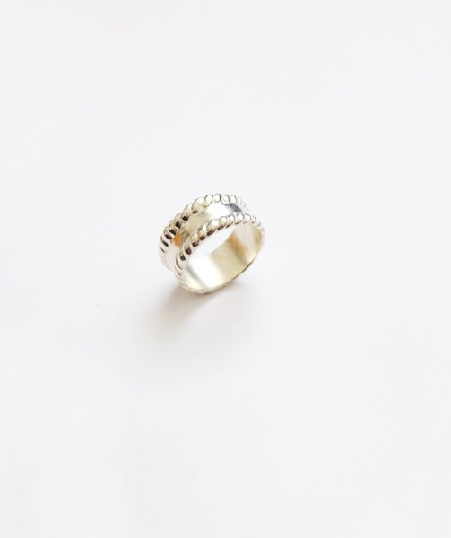 Rope edge Ring - Silver