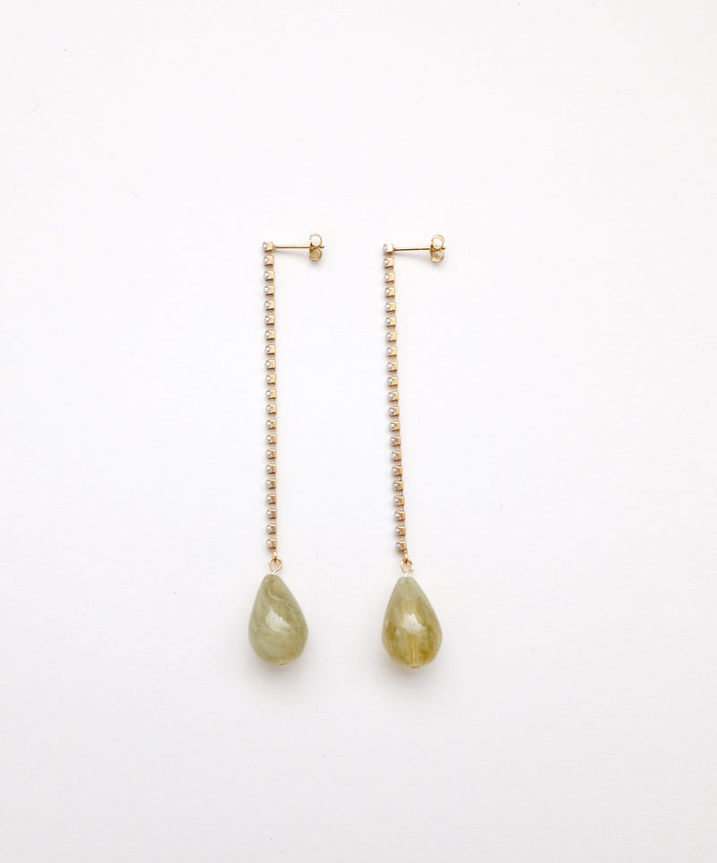 Green Pearl Drop Pierce