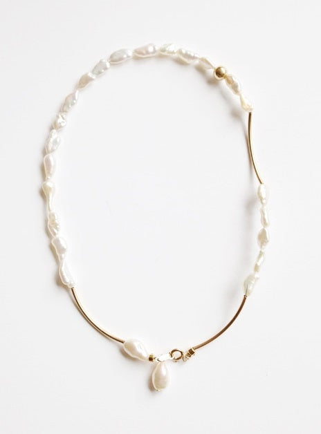 Baroque Pearl Gold 2way Necklace