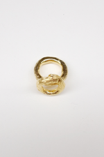 Big Clay Ring - Gold , Silver