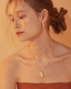 Bling Leaf Necklace - Gold、Silver