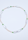 Green Pea Pearl Necklace