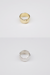 Scratch Folding Ring - Gold , Silver
