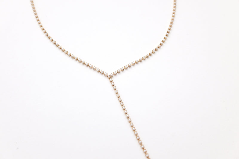 Pearl Y type Necklace
