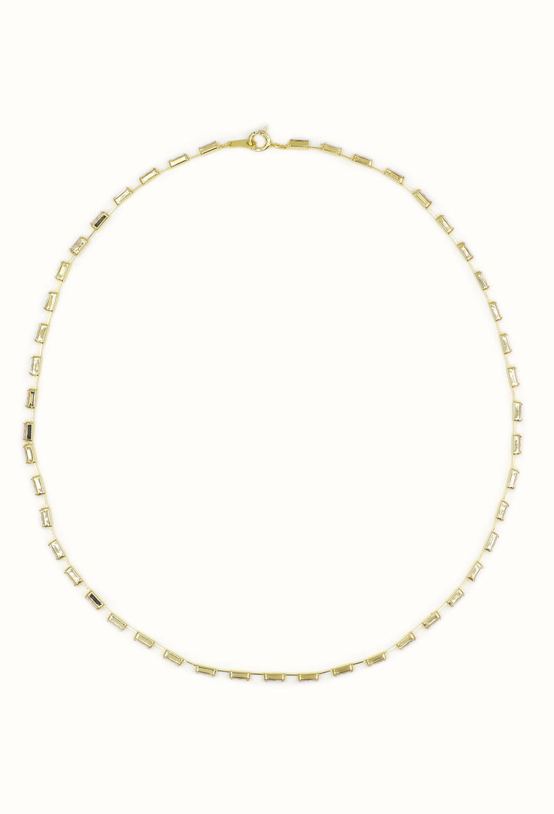 Square Cue Necklace - Gold, Silver