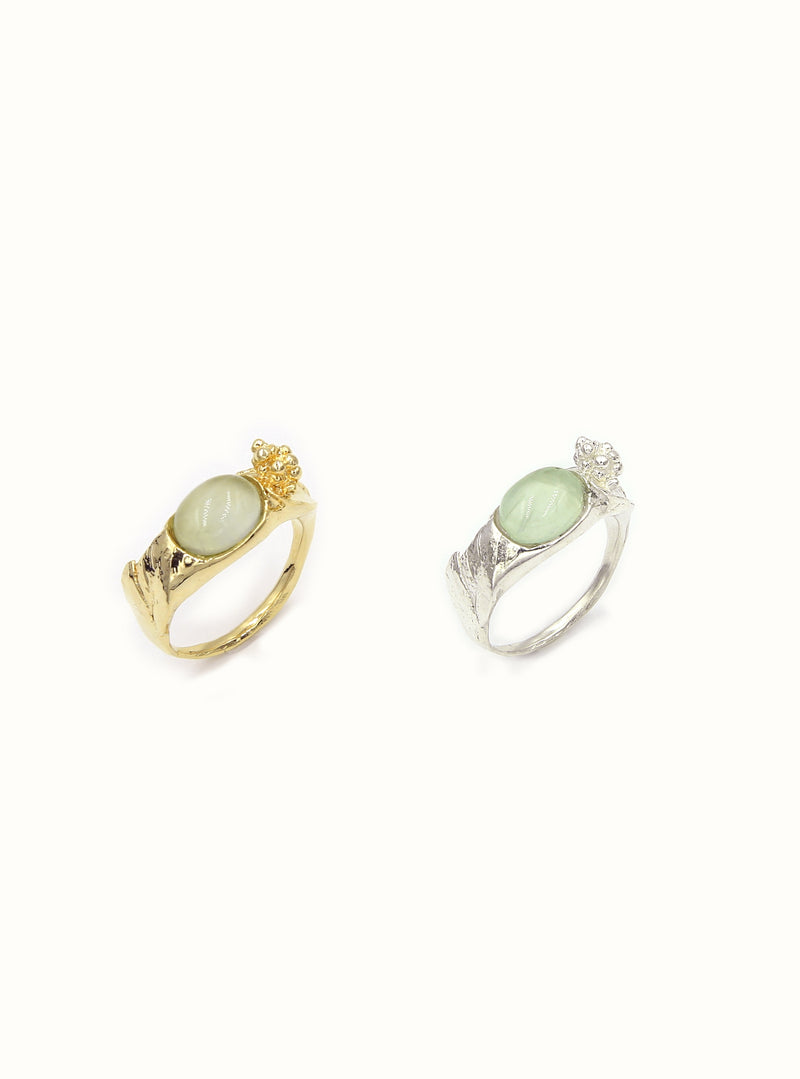 Powder Green Ring - Gold, Silver