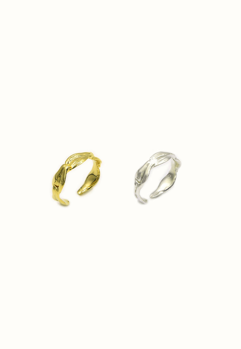 Simple Leaf Ring - Gold, Silver