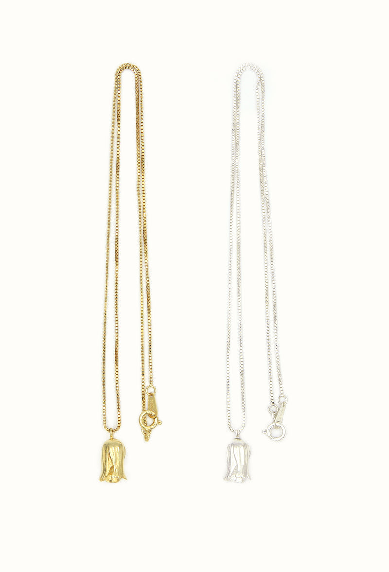 Mini Bell Necklace - Gold, Silver