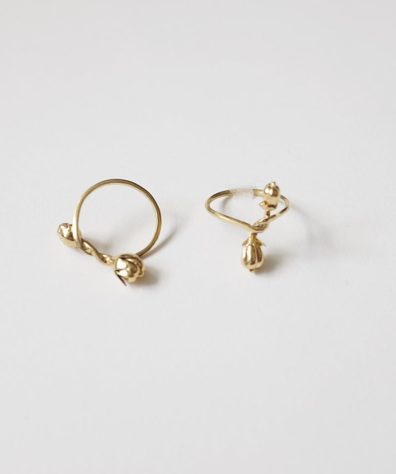 Nuts Flower Ring - 2 Type