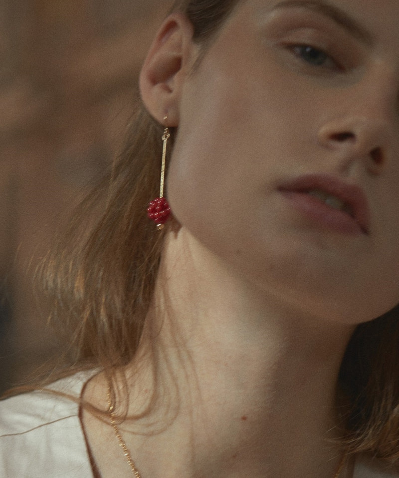 Red Coral Berry Pierce