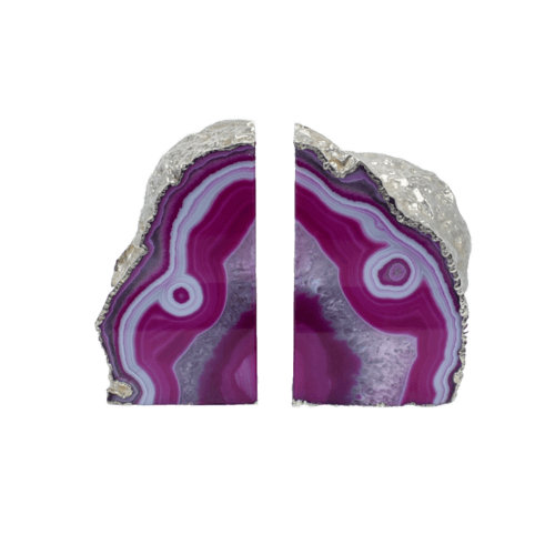 Agate Bookend Silver Electroplated Premium Quality - The SheEO Store