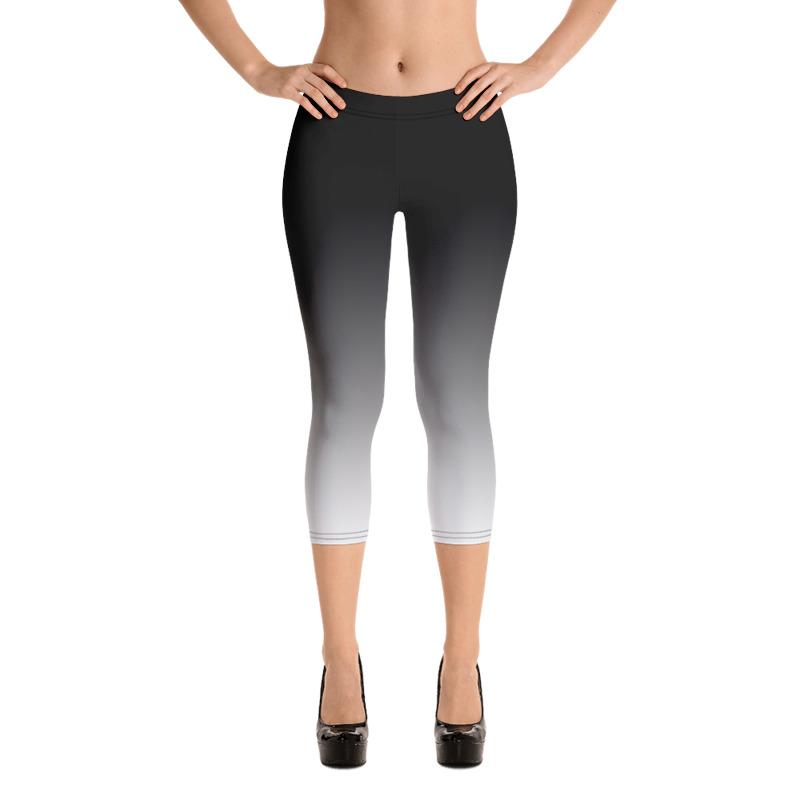 Black and White Ombre Leggings, Capris and Shorts - The SheEO Store