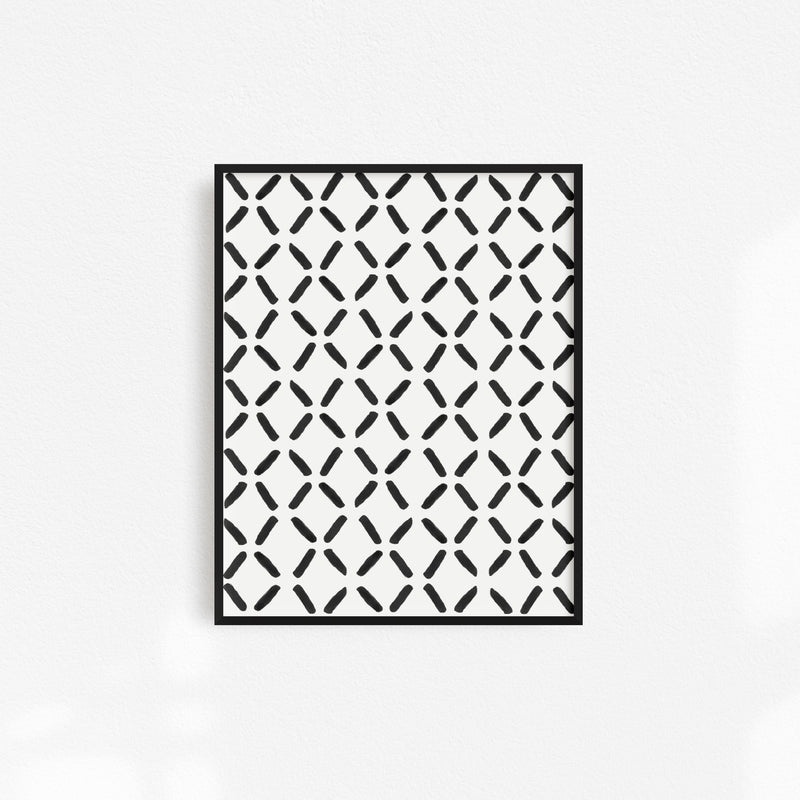 Black & White Patterned Art Print - The SheEO Store