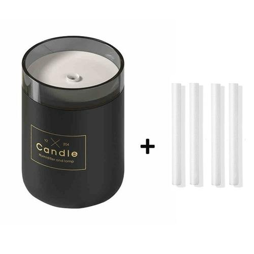 Candle USB Air Humidifier Diffusers, Oils & Candles Violet Perseus Black-4 filter