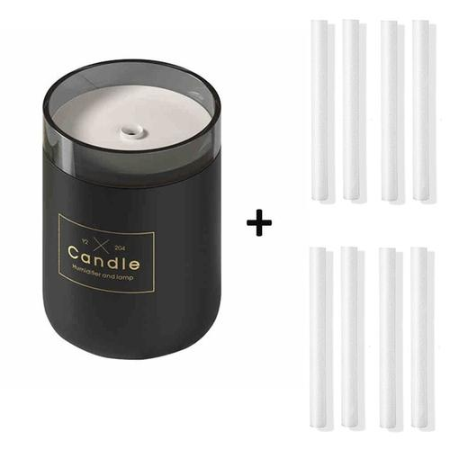 Candle USB Air Humidifier Diffusers, Oils & Candles Violet Perseus Black-8 filter