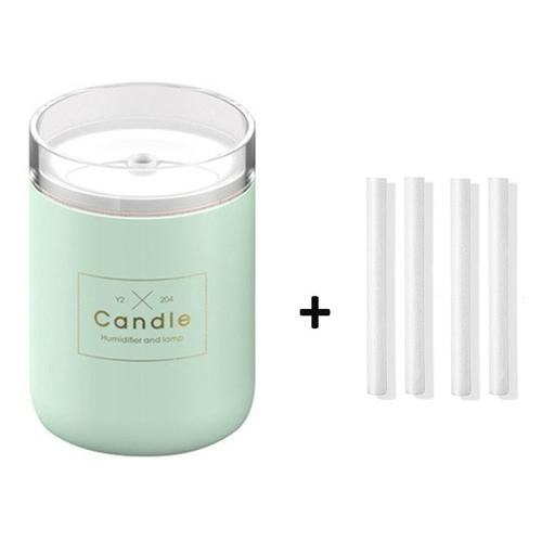 Candle USB Air Humidifier Diffusers, Oils & Candles Violet Perseus Green-4 filter