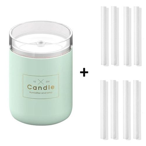 Candle USB Air Humidifier Diffusers, Oils & Candles Violet Perseus Green-8 filter