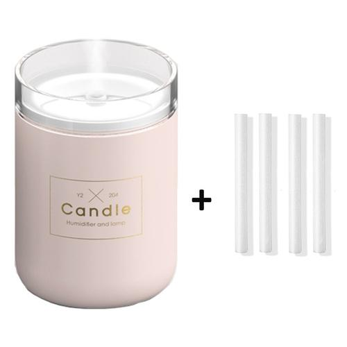 Candle USB Air Humidifier Diffusers, Oils & Candles Violet Perseus Pink-4 filter