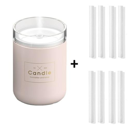 Candle USB Air Humidifier Diffusers, Oils & Candles Violet Perseus Pink-8 filter