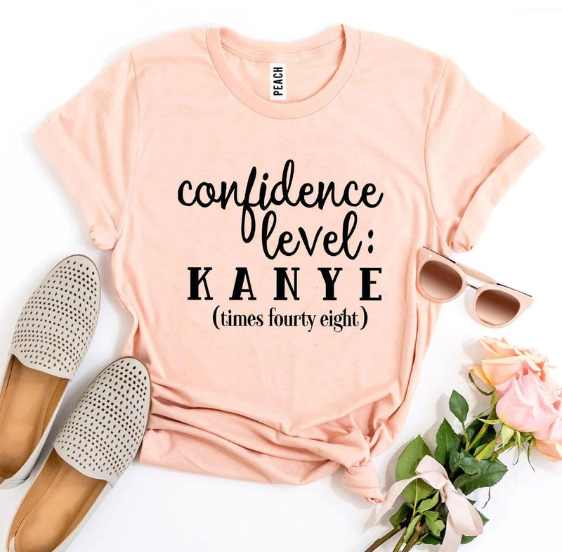 Confidence Level: Kanye Times Fourty Eight T-shirt T-shirts Agate