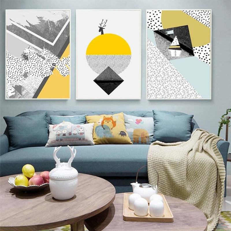 Geometric Abstract Wall Art Home Decor Ivory Ariadne