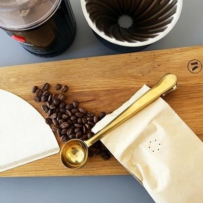 Golden Stainless steel Coffee Clip - The SheEO Store