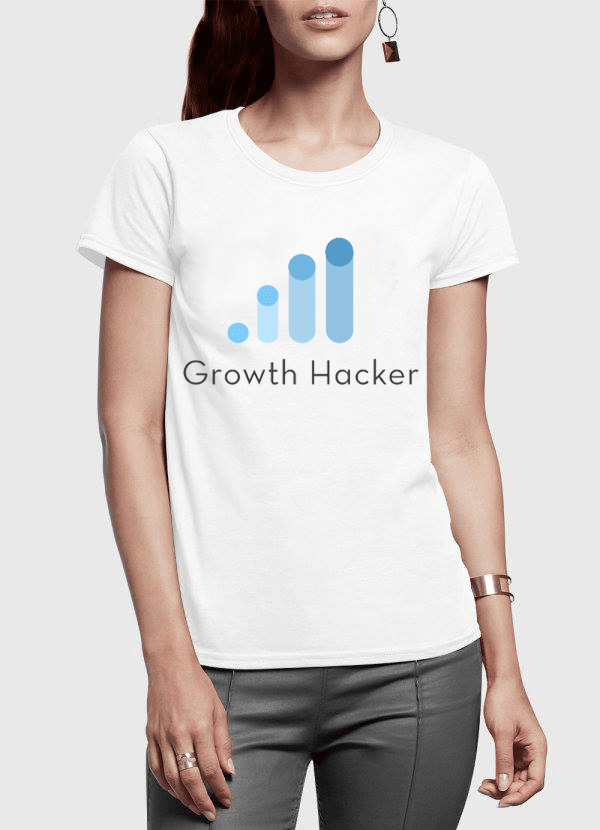 Growth Hacker Half Sleeves Women T-shirt - The SheEO Store