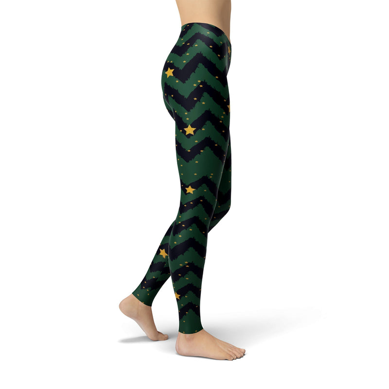 Holiday Zigzag Tree Leggings - The SheEO Store