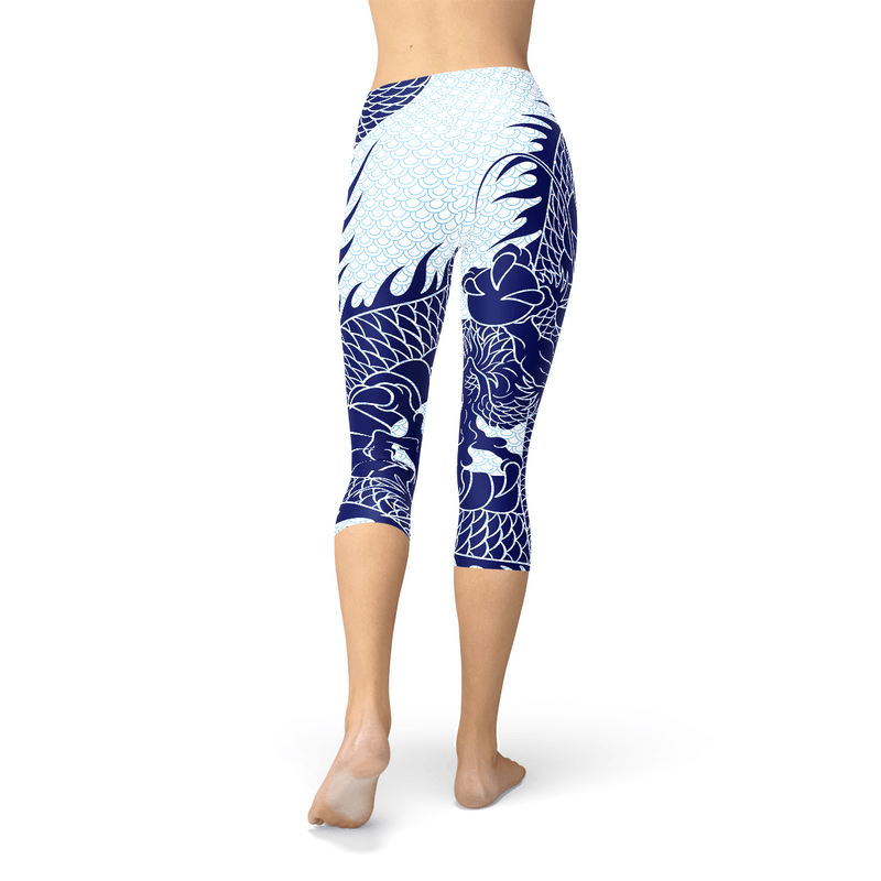 Japanese Dragon Capri Leggings - The SheEO Store