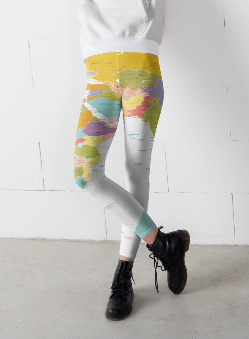 Map leggings, Capris and Shorts - The SheEO Store