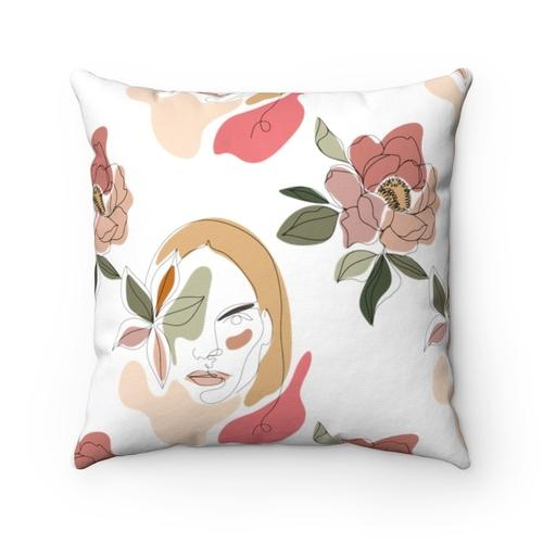 """Stoic Woman"" Square Pillow Textiles & Pillows Sky Blue Daisy"