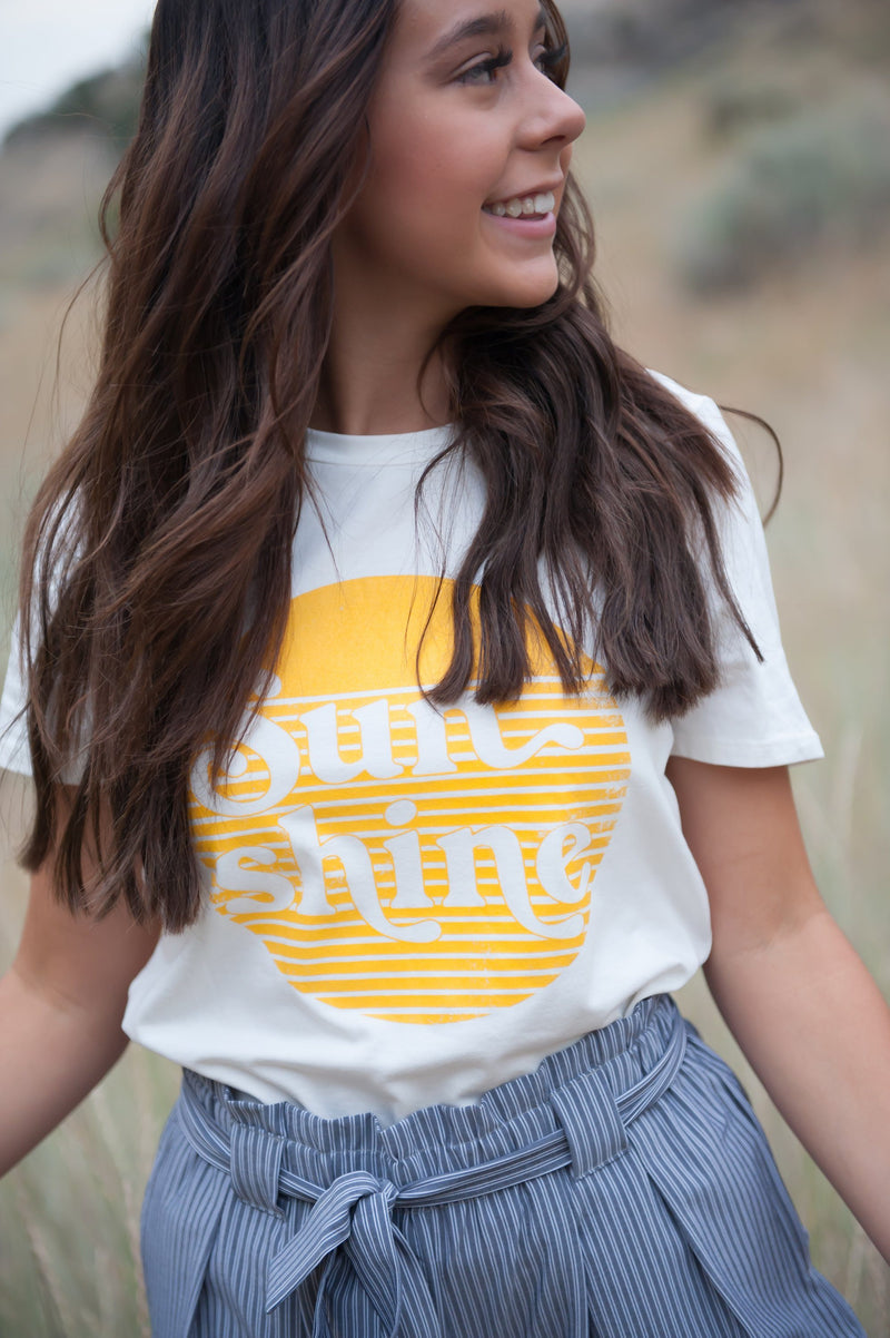 Sunshine Graphic Tee in White - The SheEO Store