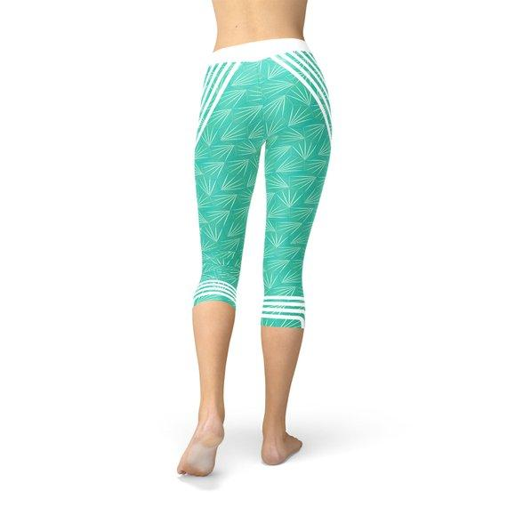 Turquoise Sports Capri Leggings - The SheEO Store