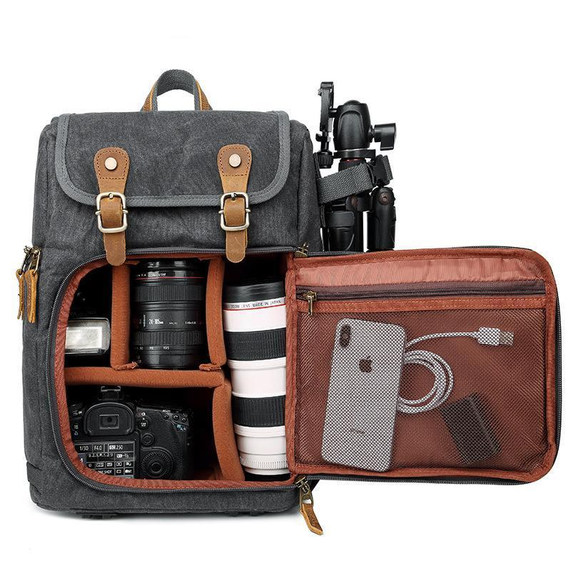 Waterproof Canvas Photography Camera Backpack Backpacks Maroon Asteria