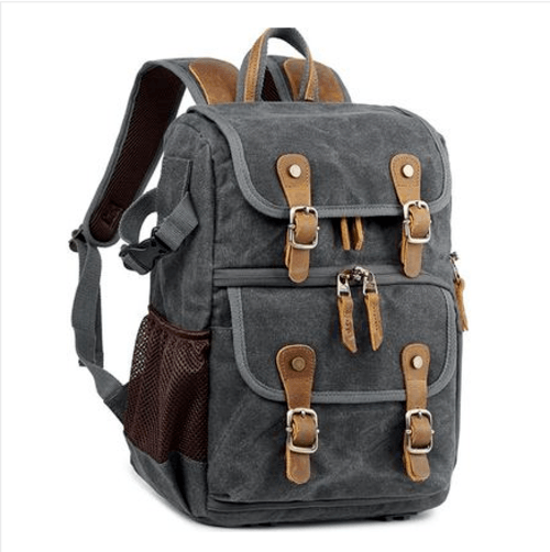 Waterproof Canvas Photography Camera Backpack Backpacks Maroon Asteria Dark grey