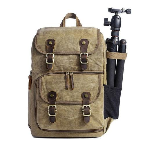 Waterproof Canvas Photography Camera Backpack Backpacks Maroon Asteria Khaki
