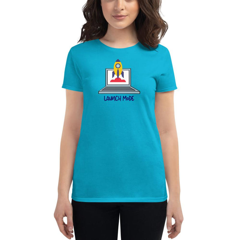 Women's short sleeve t-shirt The SheEO Store Caribbean Blue S
