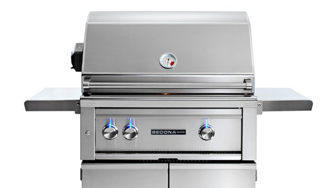 "30"" Freestanding Sedona Grill - 2 SS Tube Burners with Rotisserie - Ships Assembled"