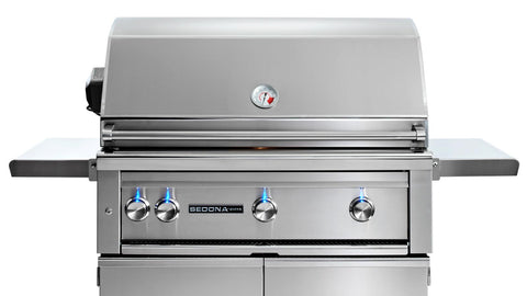 "36"" Freestanding Sedona Grill - 3 SS Tube Burners with Rotisserie - Ships Assembled"
