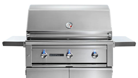 "36"" Freestanding Sedona Grill, 3 SS Tube Burners - Ships Assembled"