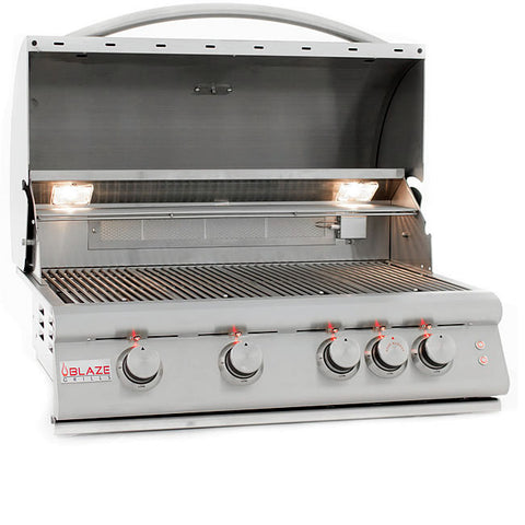 "Blaze 4 Burner LTE Grill with Lights (32"")"