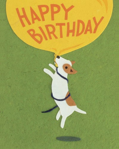 Balloon Dog Bday Card