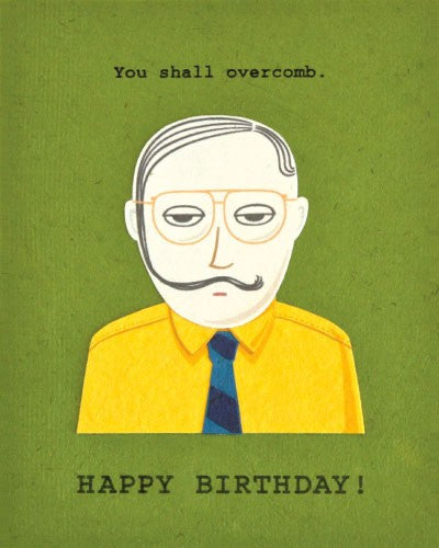Overcomb Bday Card