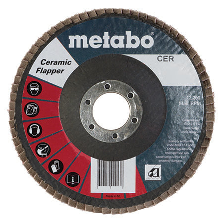 "Metabo 629500000 6"" Ceramic Flapper 60 7/8 T27 Fiberglass (Pack of 10)"