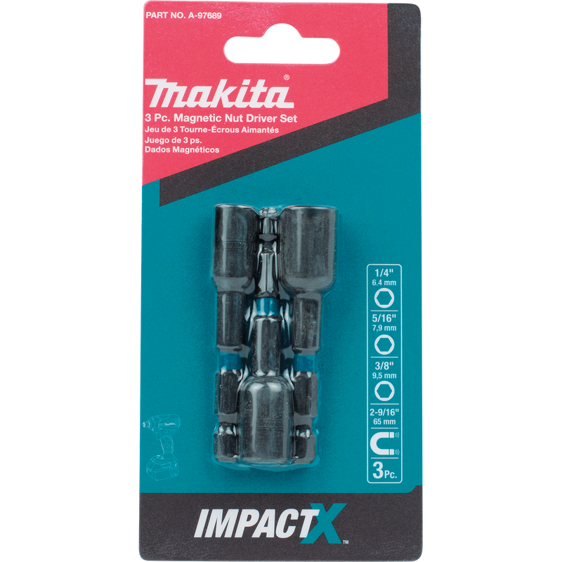 ImpactX™ 3 Pc. 2‑9/16″ Magnetic Nut Driver Set (Pack of 4)
