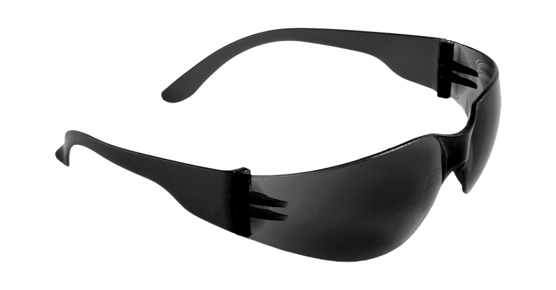 Mini Smoke Lens, Frosted Black Frame Safety Glasses - BH13163 (Case of 144)