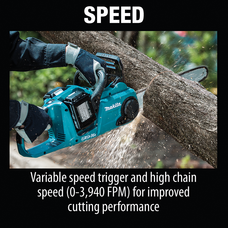 "18V X2 (36V) LXT® Lithium‑Ion Brushless Cordless 14"" Chain Saw Kit with 4 Batteries (5.0Ah)"