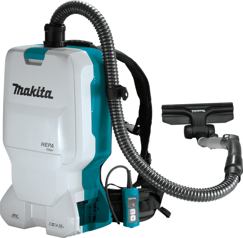 Makita XCV17Z 18V X2 (36V) LXT® Lithium‑Ion Brushless Cordless 1.6 Gallon HEPA Filter Backpack Dry Vacuum, Tool Only